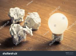 learn mistake glowing light bulb crumbled stock photo 595204487