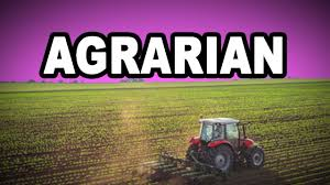 Learn English Words AGRARIAN