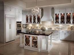 Antique White Kitchen Cabinets With Chocolate Glaze Black Appliances Brown Interior Gammaphibetaocu Lowes Grey Walls Dark Wood Floors Granite Countertops