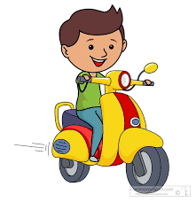 Scooter Clipart Motorcycle Riding 3