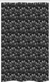abakuhaus duschvorhang badezimmer deko set aus stoff mit haken breite 120 cm höhe 180 cm ausländer lustige mikroorganismen muster kaufen