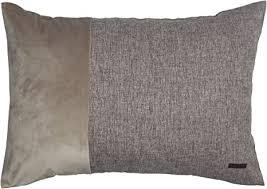 esprit deko kissen harp 2er set kissenbezug 38x58 braun deko wohnzimmer ohne füllung 100 polyester