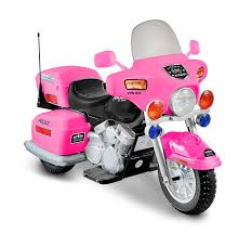 Amazon.com: National Products 12V Police Motorcycle - Pink: Toys & Games