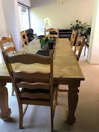 Rare Solid Wood Dining Table (+6 Chairs) | In Cuffley, Hertfordshire |  Gumtree Modern Live Edge Solid Wood Ding Table Room Set Of 4 Toby Chairs And Rectangular Kitchen Medium Brown Color Home Timber Homeandtimber Twitter The 1 Premium Fniture Furnishings Brand Amazoncom Tyjusa Chair Handcrafted Tables Vermont Woods Studios Antique Vintage 11774 For Sale At Trise Chair Grey Kave 14 Stylish Solid Hardwood Flooring Made In Usa Unique Midcentury 595088 In North America Ding Room Canadel