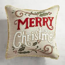 red gold beaded merry christmas pillow pier 1 imports