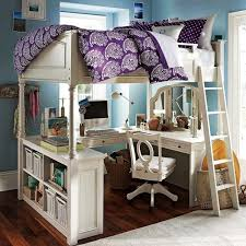 Chelsea Vanity Loft Bed by Bedroom Cool Bunk Bed With Desk Underneath Full Size Loft Beds