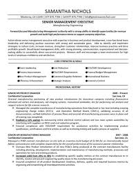 Senior Management Executive Of Forward Focused Manufacturing With Engineer Sample Resume And Professional History In Confidential Corporation