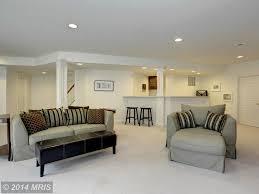Wayfair Black Leather Sofa by Traditional Basement With Built In Bookshelf U0026 Carpet In Ellicott
