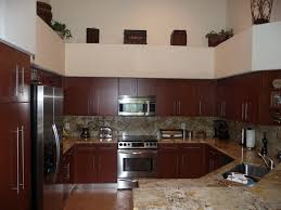 Modern Kitchen Cabinets Shown in Cherry Wood