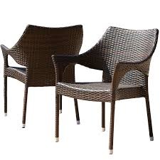 Del Mar Outdoor | Wicker Stacking Chairs | Set Of 2 | Perfect For Patio |  MultiBrown Gdf Studio Dorside Outdoor Wicker Armless Stack Chairs With Alinum Frame Dover Armed Stacking With Set Of 4 Palm Harbor Stackable White All Weather Patio Chair Bay Island Noble House Multibrown Ding 2pack Plowhearth Bistro Two 30 Arm Brown 51 Bfm Seating Ms11cbbbl Gray Rattan Inoutdoor Restaurant Of Red By Crosley Fniture