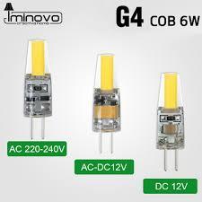 iminovo g4 cob light bulb led l ac 12v ac 220v dc 12v 6w