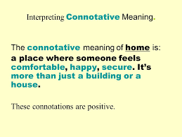 Interpreting Connotative Meaning Warm Up Describe the following