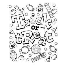 Trick Or Treat Candy Coloring Pages Picture 3 Fun And Free Halloween Sheets
