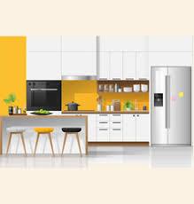 Interior Design Modern Kitchen Background 5 Stock Vektor Kitchen Interior Vector Images 32 000