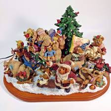 Spode Christmas Tree Cookie Jar Ebay by Boyds Bears Christmas Sleigh Lighted Display Piece Danbury Mint