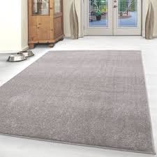 paket kurzflor teppich einfarbig robust gabbeh optik wohnzimmerteppich beige meliert
