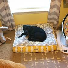 Restoration Hardware Dog Bed by Subtle Safari Nursery For Baby Aiden Project Nursery