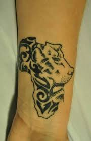 Tribal Lion And Africa Map Tattoo Collaboration
