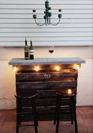 Wooden Patio Bar Ideas by Outdoor Bar Buffet Table Made Out Of Pallet Wood Charcoal