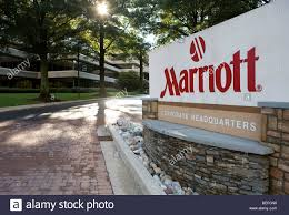 The corporate headquarters of Marriott Hotels in Maryland Stock