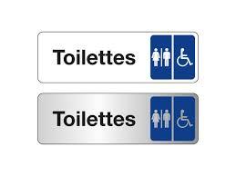 plaque de porte toilettes hommes femmes handicapés contact signals