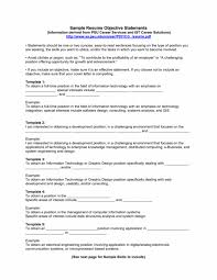 Resume Objectives For Any Job Sample No Experience The Good Medium Size