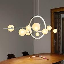 moderne leuchten esstisch eisen led kronleuchter nordic