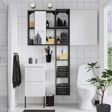 enhet tvällen badezimmer set 16 tlg weiß anthrazit