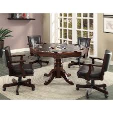 Furniture Of America Gary 5-piece Cherry 3-in-1 Poker Game ...