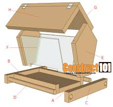 Free Bird Table Plans by Build A Bird Feeder Free Plans Construct101