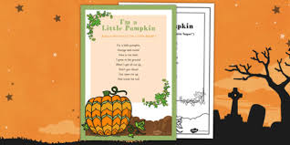 Poems About Halloween That Rhymes by M A Little Pumpkin Rhyme Eyfs Halloween Pumpkin Poem