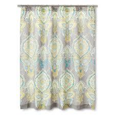 Yellow Gray And Teal Bathroom mudhut anila shower curtain gray aqua yellow image 1 of 1