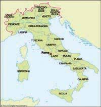 Italy Simple Map Of