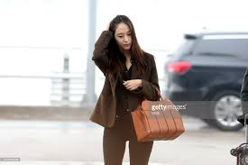 South Korean Singer And Actress Krystal Jung Arrives At Incheon International Airport Sets Out For