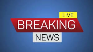 Breaking News Live Motion Banner On Blue Business Technology Background Splash Screen Available