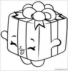 Gigi Gift Shopkins Season 7 Coloring Page