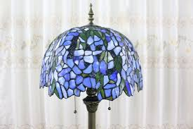Tiffany Style Lamps Canada by Tiffany Style Wisteria Patterns Floor Lamp With Resin Base