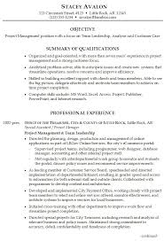 Project Manager Resume Objective Awesome Examples For Management Position Of Resumes