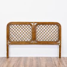 Bamboo Headboards For Beds by This Rattan Headboard Is Featured In A Solid Bamboo Wood With A