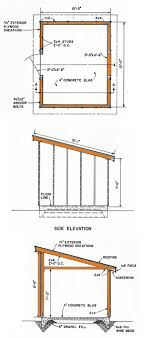 10 12 lean to storage shed plans diagrams for a slant roof shed