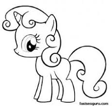 Printable My Little Pony Friendship Is Magic Sweetie Belle Coloring Pages