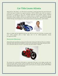 Car Title Loans Atlanta Pages 1 - 2 - Text Version | FlipHTML5