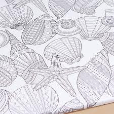100 Sea Shell Design Colouring In Keepsake Box Deja Ooh