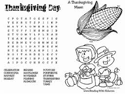 Free Thanksgiving Coloring Pages Games Printables
