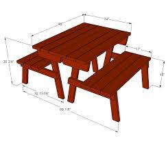 innovative picnic table size ana white build a modern kids picnic