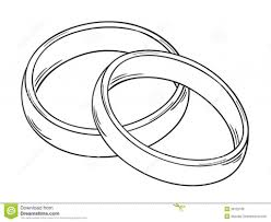 Two Rings Stock Vector Image Intended For The Most Stylish Wedding Rings Drawing Regarding Really Encourage