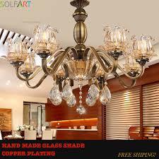 chandelier for living room ls glass lustre vintage led