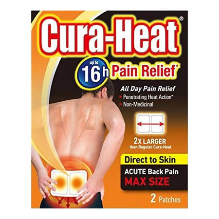 Cura-Heat Acute Back Pain Relief - Max Size, 2 Patches