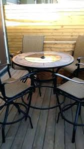 3 Piece Bar Height Patio Bistro Set by Hampton Bay Oak Cliff 3 Piece Metal Outdoor Balcony Height Bistro