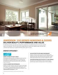 Andersen 400 Series Patio Door Sizes by 100 Series Gliding Patio Door